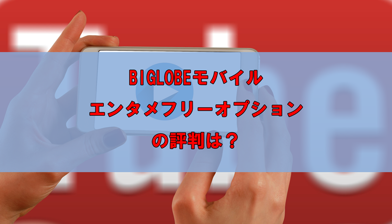 BIGLOBEモバイル エンタメフリーオプションの評判