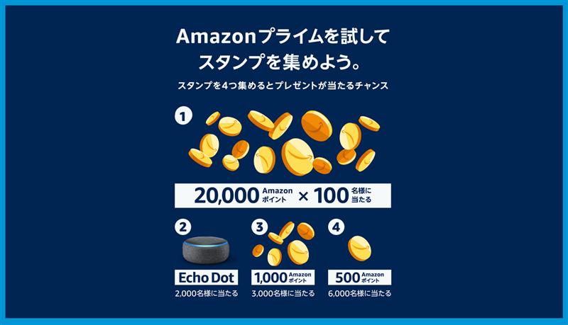 Amazonプライムスタンプラリー